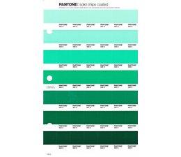 Pantone PMS Solid Chips vervangingspagina op coated papier 179C, kleurnummers 337C - 338C - 339C - 340C - 341C - 342C - 343C