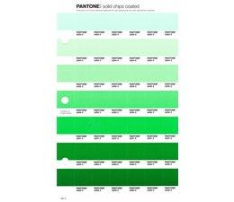 Pantone PMS Solid Chips vervangingspagina op coated papier 187C, kleurnummers 2253C - 2254C - 2255C - 2256C - 2257C - 2258C - 2259C
