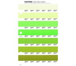 Pantone PMS Solid Chips vervangingspagina op coated papier 194C, kleurnummers 7485C - 7486C - 7487C - 7488C - 7489C - 7490C - 7491C