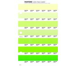 Pantone PMS Solid Chips vervangingspagina op coated papier 197C, kleurnummers 2281C - 2282C - 2283C - 2284C - 2285C - 2286C - 2287C