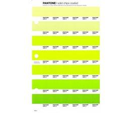 Pantone PMS Solid Chips vervangingspagina op coated papier 199C, kleurnummers 2288C - 2289C - 2290C - 2291C - 2292C - 2293C - 2294C