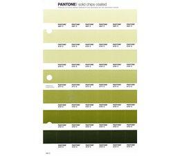 Pantone PMS Solid Chips vervangingspagina op coated papier 202C, kleurnummers 5807C - 5797C - 5787C - 5777C - 5767C - 5757C - 5747C