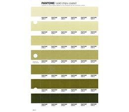 Pantone PMS Solid Chips vervangingspagina op coated papier 204C, kleurnummers 5803C - 5793C - 5783C - 5773C - 5763C - 5753C - 5743C