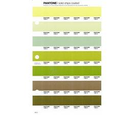 Pantone PMS Solid Chips vervangingspagina op coated papier 205C, kleurnummers 7492C - 7493C - 7494C - 7495C - 7496C - 7497C - 7498C