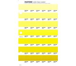 Pantone PMS Solid Chips vervangingspagina op coated papier 214C, kleurnummers 607C - 608C - 609C - 610C - 611C - 612C - 613C