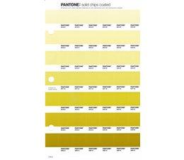 Pantone PMS Solid Chips vervangingspagina op coated papier 216C, kleurnummers 614C - 615C - 616C - 617C - 618C - 619C - 620C