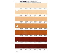 Pantone PMS Solid Chips vervangingspagina op coated papier 228C, kleurnummers 726C - 727C - 728C - 729C - 730C - 731C - 732C