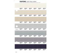 Pantone PMS Solid Chips vervangingspagina op coated papier 236C, kleurnummers 7534C - 7535C - 7536C - 7537C - 7538C - 7539C - 7540C