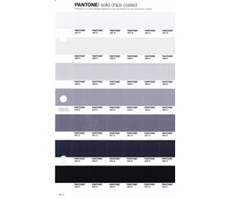 Pantone PMS Solid Chips vervangingspagina op coated papier 237C, kleurnummers 427C - 428C - 429C - 430C - 431C - 432C - 433C