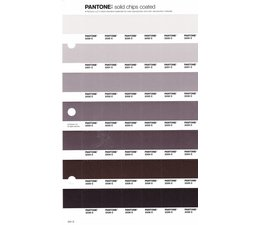 Pantone PMS Solid Chips vervangingspagina op coated papier 241C, kleurnummers 2330C - 2331C - 2332C - 2333C - 2334C - 2335C - 2336C