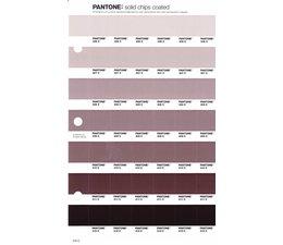 Pantone PMS Solid Chips vervangingspagina op coated papier 243C, kleurnummers 406C - 407C - 408C - 409C - 410C - 411C - 412C