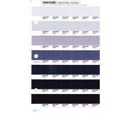 Pantone PMS Solid Chips vervangingspagina op coated papier 244C, kleurnummers 434C - 435C - 436C - 437C - 438C - 439C - 440C