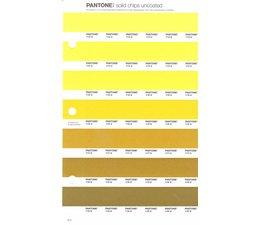 Pantone PMS Solid Chips vervangingspagina op uncoated papier 6U, kleurnummers 113U - 114U - 115U - 116U - 117U - 118U - 119U
