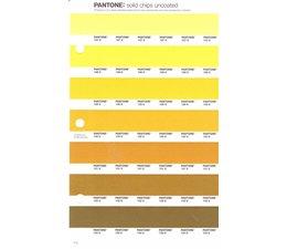 Pantone PMS Solid Chips vervangingspagina op uncoated papier 7U, kleurnummers 127U - 128U - 129U - 130U - 131U - 132U - 133U