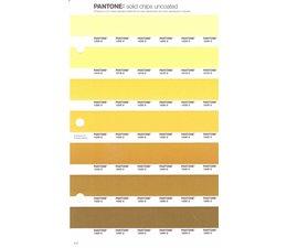 Pantone PMS Solid Chips vervangingspagina op uncoated papier 8U, kleurnummers 1205U - 1215U - 1225U - 1235U - 1245U - 1255U - 1265U