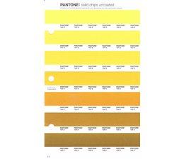 Pantone PMS Solid Chips vervangingspagina op uncoated papier 9U, kleurnummers 120U - 121U - 122U - 123U - 124U - 125U - 126U