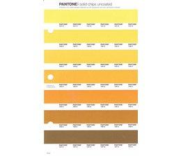 Pantone PMS Solid Chips vervangingspagina op uncoated papier 15U, kleurnummers 141U - 142U - 143U - 144U -145U - 146U - 147U