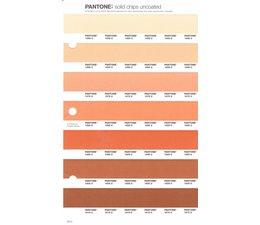 Pantone PMS Solid Chips vervangingspagina op uncoated papier 24U, kleurnummers 1555U - 1565U - 1575U - 1585U - 1595U - 1605U - 1615U