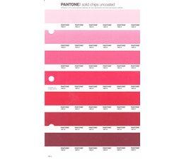 Pantone PMS Solid Chips vervangingspagina op uncoated papier 46U, kleurnummers 182U - 183U - 184U - 185U - 186U - 187U - 188U