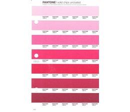 Pantone PMS Solid Chips vervangingspagina op uncoated papier 49U, kleurnummers 1895U - 1905U - 1915U - 1925U - 1935U - 1945U - 1955U
