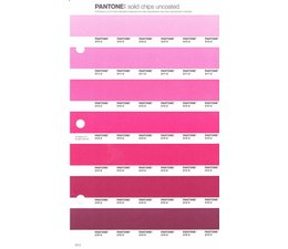 Pantone PMS Solid Chips vervangingspagina op uncoated papier 53U, kleurnummers 210U - 211U - 212U - 213U - 214U - 215U - 216U