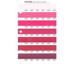 Pantone PMS Solid Chips vervangingspagina op uncoated papier 55U, kleurnummers 7422U - 7423U - 7424U - 7425U - 7426U - 7427U - 7428U