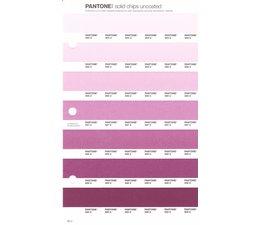 Pantone PMS Solid Chips vervangingspagina op uncoated papier 65U, kleurnummers 684U - 685U - 686U - 687U - 688U - 689U - 690U