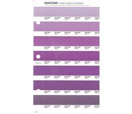 Pantone PMS Solid Chips vervangingspagina op uncoated papier 92U, kleurnummers 7660U - 7661U - 7662U - 7663U - 7664U - 7665U - 7666U