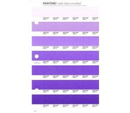 Pantone PMS Solid Chips vervangingspagina op uncoated papier 95U, kleurnummers 2085U - 2086U - 2087U - 2088U - 2089U - 2090U - 2091U