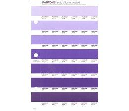 Pantone PMS Solid Chips vervangingspagina op uncoated papier 99U, kleurnummers 270U - 271U - 272U - 273U - 274U - 275U - 276U