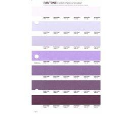Pantone PMS Solid Chips vervangingspagina op uncoated papier 102U, kleurnummers 7443U - 7444U - 7445U - 7446U - 7447U - 7448U - 7449U