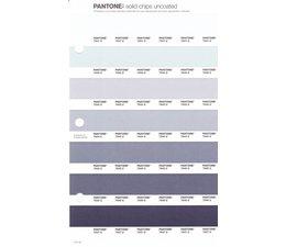 Pantone PMS Solid Chips vervangingspagina op uncoated papier 111U, kleurnummers 7541U - 7542U - 7543U - 7544U - 7545U - 7546U - 7547U