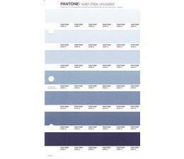 Pantone PMS Solid Chips vervangingspagina op uncoated papier 115U, kleurnummers 5455U - 5445U - 5435U - 5425U - 5415U - 5405U - 5395U
