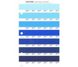 Pantone PMS Solid Chips vervangingspagina op uncoated papier 133U, kleurnummers 2905U - 2915U - 2925U - 2935U - 2945U - 2955U - 2965U