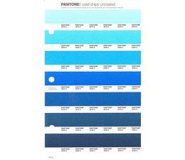 Pantone PMS Solid Chips vervangingspagina op uncoated papier 140U, kleurnummers 2975U - 2985U - 2995U - 3005U - 3015U - 3025U - 3035U