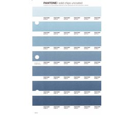 Pantone PMS Solid Chips vervangingspagina op uncoated papier 143U, kleurnummers 2176U - 2177U - 2178U - 2179U - 2180U - 2181U - 2182U
