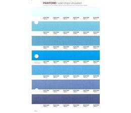 Pantone PMS Solid Chips vervangingspagina op uncoated papier 145U, kleurnummers 7457U - 7458U - 7459U - 7460U - 7461U - 7462U - 7463U