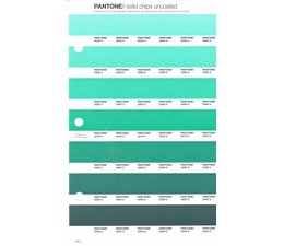 Pantone PMS Solid Chips vervangingspagina op uncoated papier 168U, kleurnummers 3248U - 3258U - 3268U - 3278U - 3288U - 3298U - 3308U