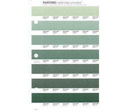Pantone PMS Solid Chips vervangingspagina op uncoated papier 172U, kleurnummers 2404U - 2406U - 2407U - 2408U - 2409U - 2410U - 2411U