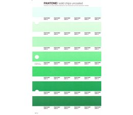 Pantone PMS Solid Chips vervangingspagina op uncoated papier 187U, kleurnummers 2253U - 2254U - 2255U - 2256U - 2257U - 2258U - 2259U