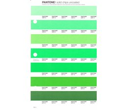 Pantone PMS Solid Chips vervangingspagina op uncoated papier 192U, kleurnummers 2267U - 2268U - 2269U - 2270U - 2271U - 2272U - 2273U