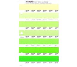 Pantone PMS Solid Chips vervangingspagina op uncoated papier 197U, kleurnummers 2281U - 2282U - 2283U - 2284U - 2285U - 2286U - 2287U