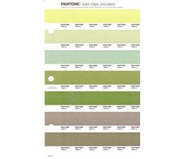 Pantone PMS Solid Chips vervangingspagina op uncoated papier 205U, kleurnummers 7492U - 7493U - 7494U - 7495U - 7496U - 7497U - 7498U