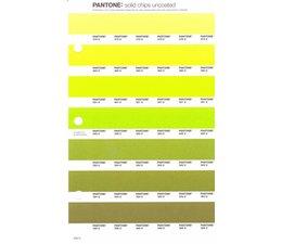 Pantone PMS Solid Chips vervangingspagina op uncoated papier 208U, kleurnummers 378U - 380U - 381U - 382U - 383U - 384U - 385U