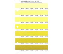 Pantone PMS Solid Chips vervangingspagina op uncoated papier 214U, kleurnummers 607U - 608U - 609U - 610U - 611U - 612U - 613U