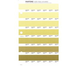 Pantone PMS Solid Chips vervangingspagina op uncoated papier 216U, kleurnummers 614U - 615U - 616U - 617U - 618U - 619U - 620U