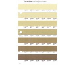 Pantone PMS Solid Chips vervangingspagina op uncoated papier 222U, kleurnummers 454U - 453U - 452U - 451U - 450U - 449U - 448U
