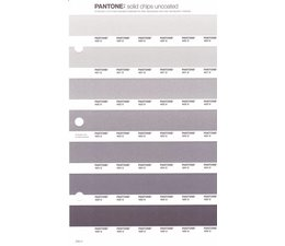 Pantone PMS Solid Chips vervangingspagina op uncoated papier 238U, kleurnummers 420U - 421U - 422U - 423U - 424U - 425U - 426U