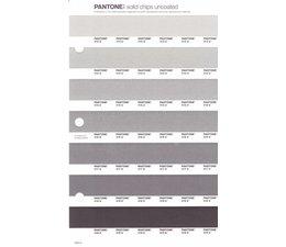 Pantone PMS Solid Chips vervangingspagina op uncoated papier 240U, kleurnummers 413U - 414U - 415U - 416U - 417U - 418U - 419U