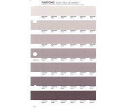 Pantone PMS Solid Chips vervangingspagina op uncoated papier 242U, kleurnummers 400U - 401U - 402U - 403U - 404U - 405U - Black U